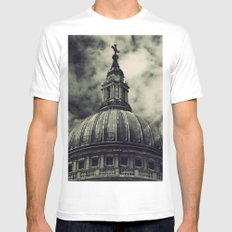 St Paul's Cathedral MEDIUM White Mens Fitted Tee