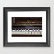Piano keys Old antique vintage music instrument Framed Art Print