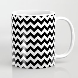 Chevron (Black/White) Coffee Mug