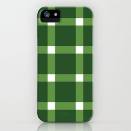 Lucille Green Plaid Gingham iPhone Case