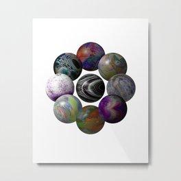 Spheres Circle Metal Print