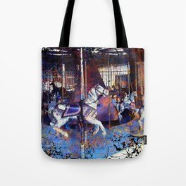 Haunted Halloween Carousel Ride Tote Bag