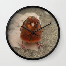 Cute runaway canary bird Wall Clock