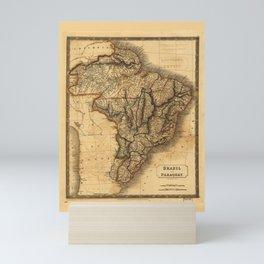 Map of Brazil and Paraguay (1828) Mini Art Print