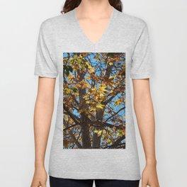 Fall Time Tree Unisex V-Neck