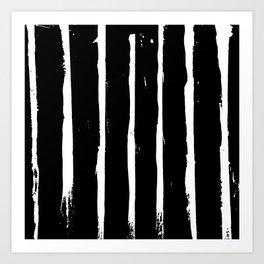 Minimal [3]: a simple, black and white pattern by Alyssa Hamilton Art Art Print