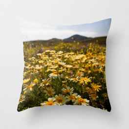Flower dotted Delos Throw Pillow
