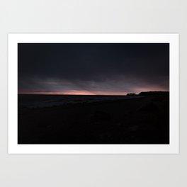 Sonnenaufgang bei Regen an der Ostsee Art Print