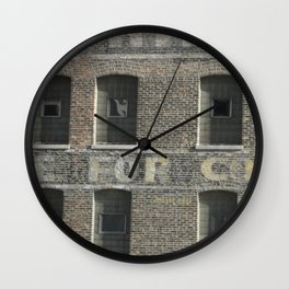 Chicago Windows, Old Building in Chicago Wall Clock