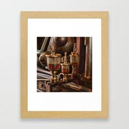Steam engine oilers - square Framed Art Print