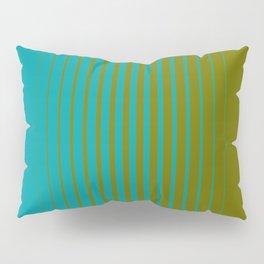 gradient stripes aqua olive Pillow Sham