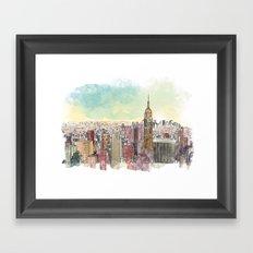 Manhatan Framed Art Print