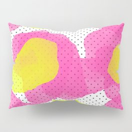 Sarah's Flowers - Abstract Watercolor on Polka Dots Pillow Sham