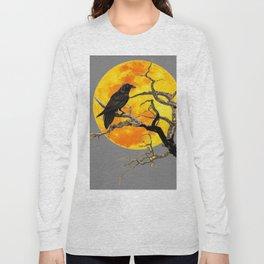 FULL MOON & RAVEN ON DEAD TREE Long Sleeve T-shirt