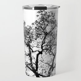 Tree - Black and White Travel Mug
