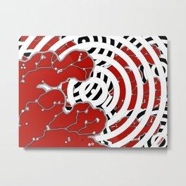 Red Invasion Metal Print
