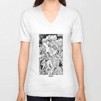family V-neck T-shirts featuring Family by David Carmo