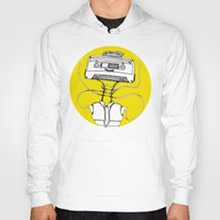 cassette Hoodies featuring Cassette by Molly Yllom Shop