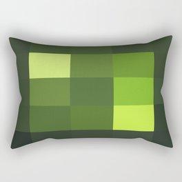 Green Yellow Blocks Rectangular Pillow