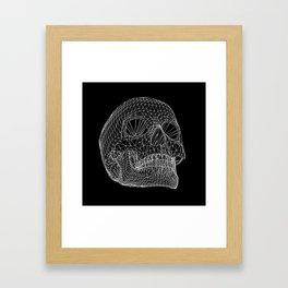 Vector Skull Framed Art Print