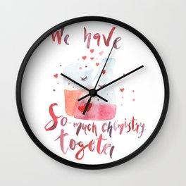 Valentines day art Chemistry Wall Clock