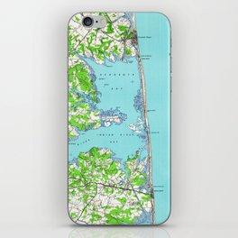 Vintage Rehoboth & Bethany Beach DE Map (1938) iPhone Skin