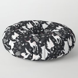 Merry Christmas - Simple X-mas Winter Forest Animals - Mix and Match with Simplicity of Life Floor Pillow