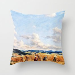 Harvest in the Czech-Moravian Highlands - Tavik Frantisek Simon Throw Pillow