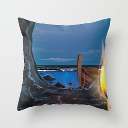 Smugglers Cave Throw Pillow