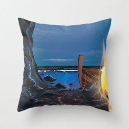 Smugglers Cave Throw Pillow