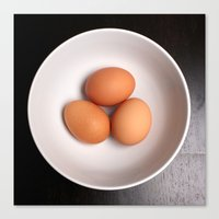 eggs Canvas Prints featuring Eggs by Amything Goes