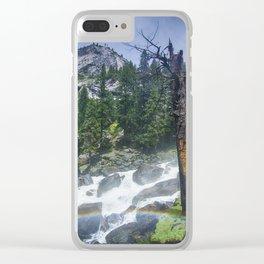 Yosemite Falls Panorama Clear iPhone Case