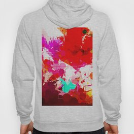 geometric circle pattern abstract in red orange pink blue Hoody