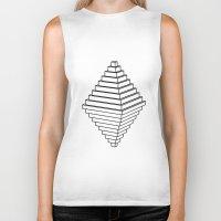 pyramid Biker Tanks featuring Pyramid by Goldsmith´s corner