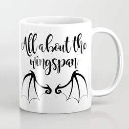 All about the wingspan white design Coffee Mug