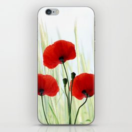 Poppies red 008 iPhone Skin