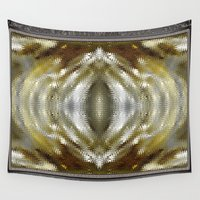 cafe Wall Tapestries featuring Cafe au Lait Kaleidoscope by JMcCombie