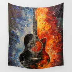 The rhythms of the guitar Wall Tapestry