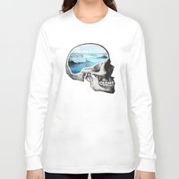 colorful Long Sleeve T-shirts featuring Brain Waves by Chase Kunz