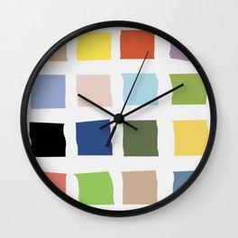 Color palette sun time Wall Clock