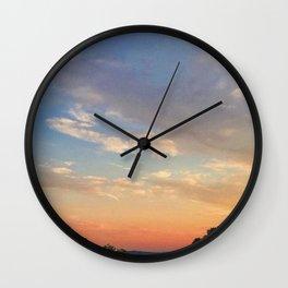 Colorful Sunset Landscape Photograph Wall Clock