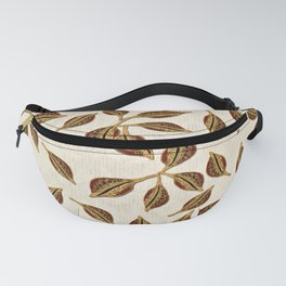 Golden Seed Pod Print Fanny Pack