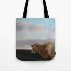 cow thinking about grass Tote Bag