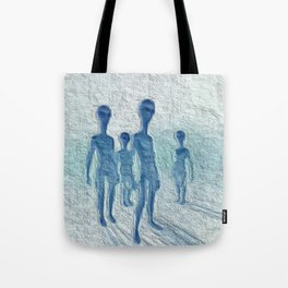 Alien Watchers Tote Bag