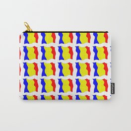 Flag of romania-romania,romanian,balkan,bucharest,danube,romani,romana,bucuresti Carry-All Pouch