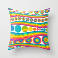bubblebow Throw Pillow