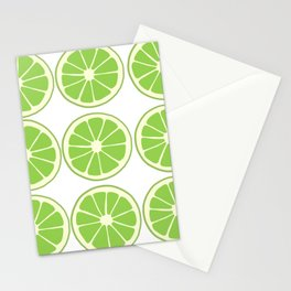 Lime Slices on White Stationery Cards