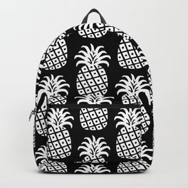 Mid Century Modern Pineapple Pattern Black and White Backpack
