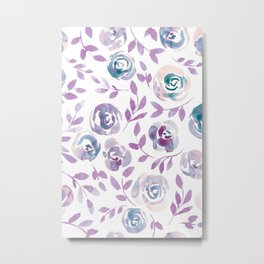 Floral Rose #1 | Purple Palette Metal Print