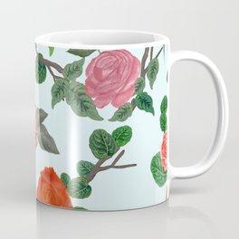 Hand drawn artistic roses spring pattern Coffee Mug
